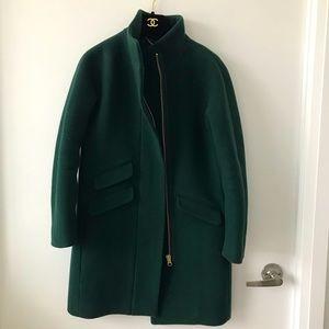 J. Crew Italian stadium cloth cocoon coat 00P